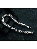 abordables -Homme Chaîne gourmette Chaînes & Bracelets - Acier au titane Créatif simple, Basique Bracelet Argent Pour Rendez-vous / Plein Air