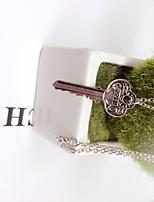 cheap -Men's Rolo Pendant Necklace / Long Necklace - Keys Trendy, Hip-Hop Cool Silver 60 cm Necklace Jewelry 1pc For Street, Club