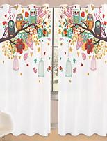 Недорогие -3D-шторы Спальня Геометрический принт Полиэстер Активный краситель
