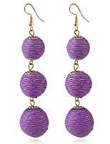 cheap -Women's Stylish Earrings - Purple / Red / Blue For Daily