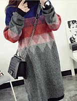 Недорогие -Жен. Изысканный Пуловер - Геометрический принт