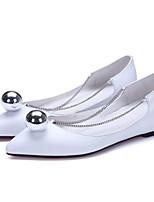 Недорогие -Жен. Полиуретан Весна Удобная обувь На плокой подошве На плоской подошве Белый / Черный