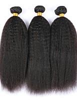 abordables -3 offres groupées Cheveux Indiens / Cheveux Mongoliens Droit Yaki Non Traités / Cheveux humains Cadeaux / Costumes Cosplay / Tissages de cheveux humains 8-28 pouce Couleur naturelle Tissages de