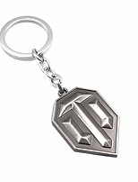 abordables -Porte-clés gris foncé Forme Géométrique, Large Alliage Métallique, Mode Pour Plein Air