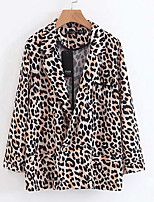 cheap -Women's Basic Blazer-Leopard,Print