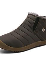 Недорогие -Жен. Обувь Эластичная ткань Зима Зимние сапоги / Флисовая подкладка Ботинки На плоской подошве Черный / Темно-синий / Серый