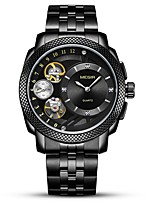 cheap -MEGIR Men's Sport Watch Dress Watch Japanese Quartz 30 m Water Resistant / Water Proof Chronograph Hollow Engraving Stainless Steel Band Analog Luxury Fashion Black / Silver - Black Silver