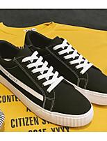 Недорогие -Муж. Комфортная обувь Полотно Весна На каждый день Кеды Белый / Черный