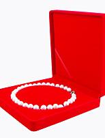abordables -Espace de rangement Organisation Collection de bijoux Tissu Forme de rectangle Flip-open Cover