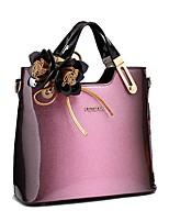 cheap -Women's Bags Cowhide Tote Zipper Red / Blushing Pink / Gray