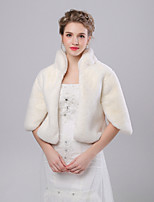 cheap -3/4 Length Sleeve Faux Fur Wedding / Party / Evening Women's Wrap With Split Coats / Jackets