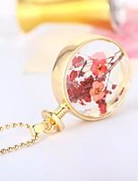 economico -Per donna Perline Collane con ciondolo - Fiore decorativo Romantico, Etnico Oro, Argento 60 cm Collana 1pc Per Natale, Regalo