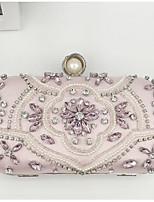 economico -Per donna Sacchetti PU Borsa da sera Dettagli con cristalli Rosa