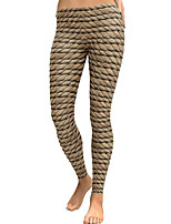 cheap -Women's Daily Basic Legging - Geometric Mid Waist