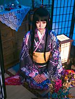 economico -Ispirato da Hell Girl Enma Ai Anime Costumi Cosplay Abiti Cosplay / Kimono Floreale Manica lunga Collare / Kimono / Fascia / fiocco Per Per donna