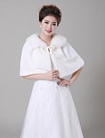 cheap -Sleeveless Faux Fur Wedding / Birthday Women's Wrap With Sash / Ribbon Capelets