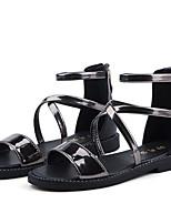 cheap -Girls' Shoes PU(Polyurethane) Summer Comfort / Flower Girl Shoes Sandals for Dark Grey / Pink