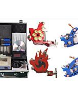 Недорогие -Татуировочная машина Профессиональный комплект для татуировки - 4 pcs татуировки машины, Высокая скорость / Переменные скорости / профессиональный уровень Сплав # No case 2