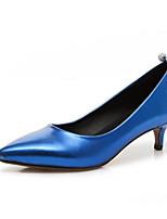 Недорогие -Жен. Обувь Полиуретан Весна Туфли лодочки Обувь на каблуках На шпильке Красный / Синий / Розовый