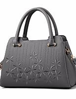 cheap -Women's Bags PU(Polyurethane) Tote Zipper Yellow / Wine / Khaki