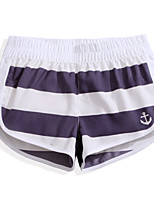 cheap -Women's Swim Shorts Ultra Light (UL), Quick Dry, Breathable POLY Swimwear Beach Wear Board Shorts / Bottoms Stripe Surfing / Beach / Watersports