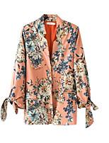 cheap -women's cotton blazer-solid colored peter pan collar