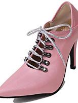 Недорогие -Жен. Балетки Полиуретан Весна & осень Обувь на каблуках На шпильке Заостренный носок Белый / Синий / Розовый