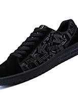 Недорогие -Муж. Полиуретан Осень Удобная обувь Кеды Черный / Черно-белый / Черный / Красный