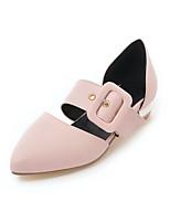 Недорогие -Жен. Обувь Полиуретан Весна лето Удобная обувь На плокой подошве На низком каблуке Заостренный носок Белый / Черный / Розовый / Для вечеринки / ужина