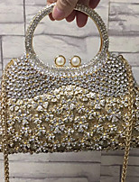 cheap -Women's Bags Alloy Evening Bag Crystals / Hollow-out Gold