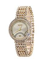 preiswerte -Damen Armband-Uhr Armbanduhr Quartz Neues Design Armbanduhren für den Alltag Imitation Diamant Legierung Band Analog Modisch Elegant Rotgold - Rotgold Ein Jahr Batterielebensdauer