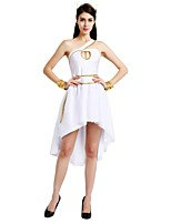 cheap -Egyptian Costume Costume Women's Halloween Carnival Masquerade Festival / Holiday Halloween Costumes Outfits White Solid Colored Halloween Halloween