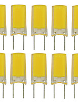 cheap -10pcs 2.5 W 180 lm G8 LED Bi-pin Lights T 1 LED Beads COB New Design Warm White / Cold White 220-240 V