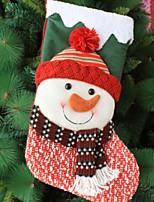 baratos -Meias de Natal Férias Tecido de Algodão Quadrada Novidades Decoração de Natal