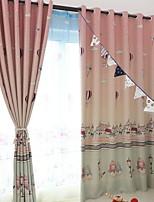 preiswerte -Gardinen Shades Kinderzimmer Geometrisch Polyester Reaktivdruck