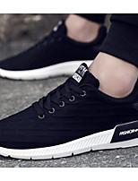 Недорогие -Муж. Комфортная обувь Эластичная ткань Весна & осень На каждый день Кеды Черный / Серый
