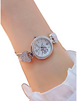 cheap -Women's Wrist Watch Quartz Chronograph Luminous Lovely Alloy Band Analog Sparkle Heart shape Silver / Rose Gold - Silver Rose Gold / Imitation Diamond