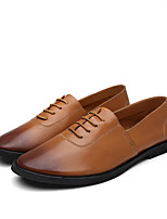 cheap -Men's Comfort Shoes Nappa Leather Spring / Summer Loafers & Slip-Ons Black / Yellow / Brown