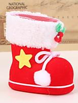 economico -Calze di Natale Vacanza Stoffa (cotone) Quadrato Originale Decorazione natalizia