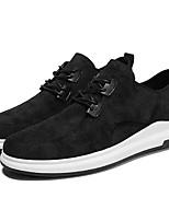 Недорогие -Муж. Комфортная обувь Свиная кожа / Полиуретан Осень На каждый день Кеды Черный / Серый / Хаки
