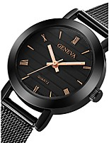 cheap -Women's Wrist Watch Quartz Chronograph Cute Casual Watch Stainless Steel Band Analog Fashion Minimalist Black / Gold / Rose Gold - Rose Gold Rose Gold / White Black / Rose Gold One Year Battery Life