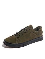 Недорогие -Муж. Комфортная обувь Искусственная кожа / Свиная кожа Осень На каждый день Кеды Нескользкий Черный / Серый / Военно-зеленный