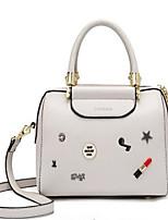 cheap -Women's Bags PU(Polyurethane) Tote Zipper White / Black / Red