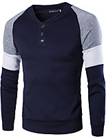 cheap -Men's Basic / Street chic Sweatshirt - Color Block