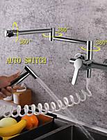 Недорогие -кухонный смеситель - Современный Хром Стандартный Носик / Горшок Filler Настольная установка