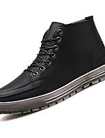 Недорогие -Муж. Комфортная обувь Полиуретан Осень Кеды Черный / Коричневый