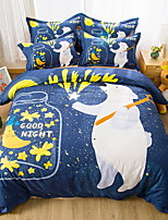 cheap -Duvet Cover Sets Cartoon 100% Cotton Reactive Print 4 Piece