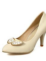 baratos -Mulheres Sapatos Confortáveis Sintéticos Primavera Saltos Salto Agulha Preto / Bege / Rosa claro