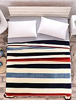 baratos -Super Suave, Estampado Listrado Fibras Acrilicas cobertores