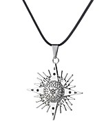 cheap -Men's Stylish / Hollow Pendant Necklace - Punk, Rococo, Casual / Sporty Silver 48 cm Necklace 1pc For Street, Club
